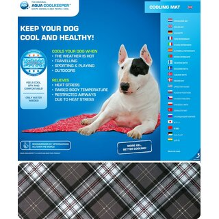 Aqua CoolKeeper Kühlmatte für Tiere Gr. 07 M 60cmx50cm Scottish Grey