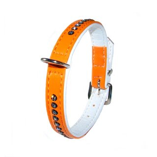 Inpeto Halsband Crystal 27cm orange einreihig